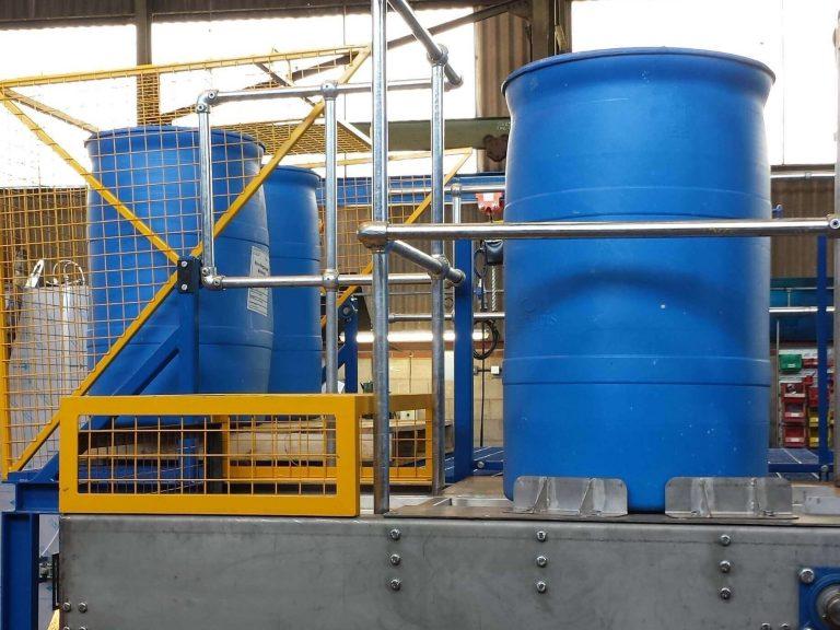 drums being taken through reconditioning system