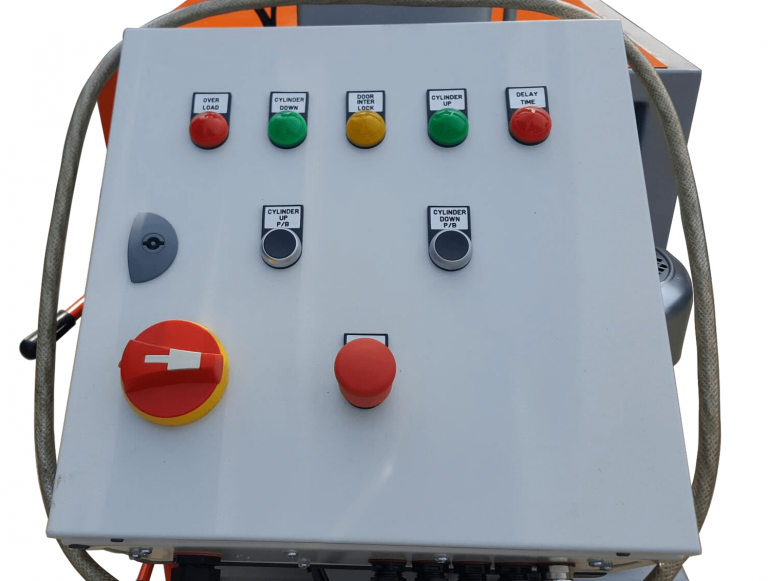 PLC control panal for drum crusher