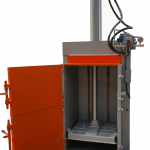 drum crusher with pneumatic arm