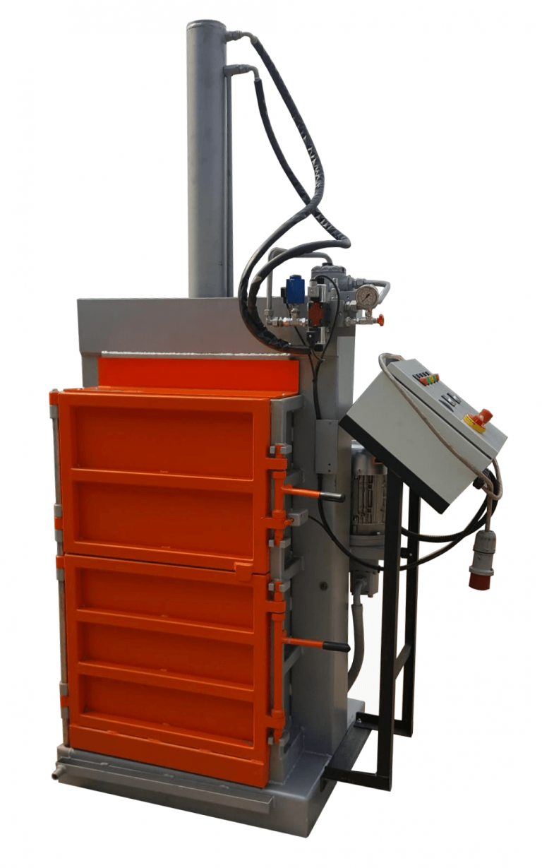 drum crusher with integrated control panel