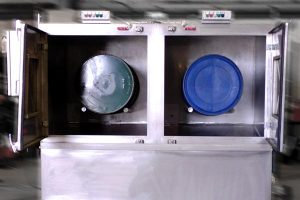 twin drum container washing machine